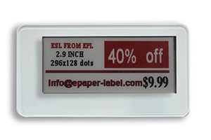 What is the operating frequency for BLE 5.0 electronic shelf labels (esl)?