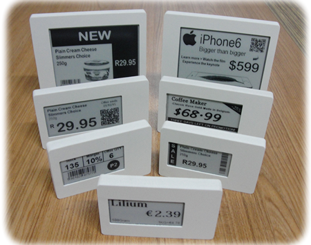 how many sizes are there for electronic shelf labels?